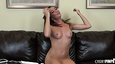 Her fabulous body shudders with pleasure as that sex toy brings pleasure to her cunt