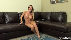 Sexy blonde Capri Cavanni shows off her hot little pussy and ass